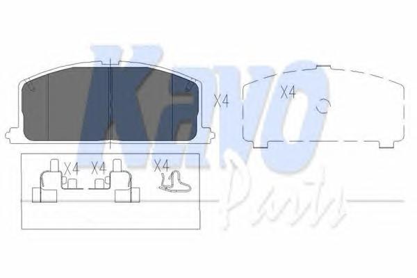 KAVO PARTS KBP-9109