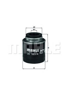 MAHLE ORIGINAL OC 593/4